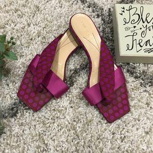 KATE SPADE pink polka dot thong sandal